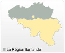 carte de la region flamande - Image